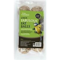 Tom Chambers Bird Food Supplies Fat Balls Treat Snack, Essential Fats, Pack Of 6