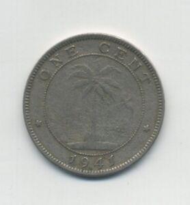 Liberia 1941 1 one cent type coin KM 11 VF copper nickel