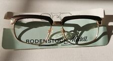 RODENSTOCK Frame/SUNGLASSES Richard Authentic Retired Yellow Gold 10K 54mm brown