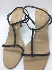 Simply Vera Wang Thong- Heels Sandals Axiom Black Pat- Open Toe Sz. 10 Med.