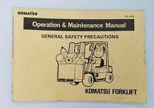 KOMATSU FS-AE6 Operation & Maintenance Manual Forklift General Safety OA