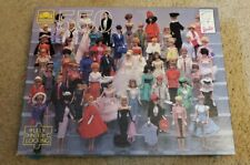 """Nostalgia Barbie Golden Puzzle 550 Piece 18""""x15.5"""" USED counted complete"""