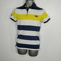 MENS SUPERDRY CHEST HOOP POLO YELLOW WHITE NAVY SHIRT TOP S SMALL
