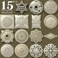 15 pcs set 3d stl models for CNC Router Artcam Aspire