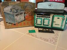 Vintage Mettoy Playthings Toy Cooker With Original Box Litho Toy