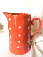 Maxwell And Williams Sprinkle Orange With White Polka Dots Pitcher Jug NEW