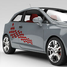 Autoaufkleber Dekor Karo Rennflagge Flagge Seitendekor Aufkleber Auto #1102