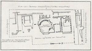E2531 Rome - Wide Argentina - Plant Dell' Area With Quattro Temples - 1929 Map