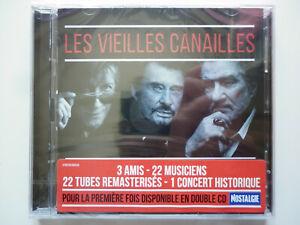 Johnny Hallyday, Dutronc, Mitchell double cd album Les Vieilles Canailles Live