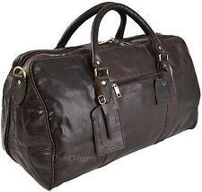 MENS QUALITY ROWALLAN LARGE BROWN LEATHER  HOLDALL BAG 8890 SALE SALE NOW £89.99