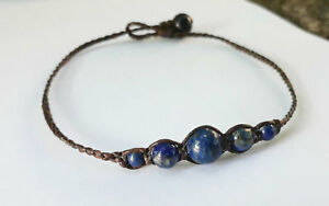 Blue Lapis stone handmade Anklets for Men and Women,fashion anklets