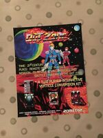 Romstar Out Zone Video Arcade Machine Flyer, 1990 NOS