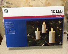 GE Candle Lights Staybright Christmas Tree Lights 10 Lights 18ft