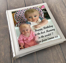 """Personalised large photo album 6x4"""" x 200 memory book, Mummy Mum birthday"""