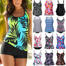 Women's Tankini Bikini Set Push-up Padded Swimsuit Bathing Suit Swimwear Plus AM