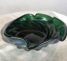 Lundberg Studios Art Glass Abalone Shell Seashell Bowl