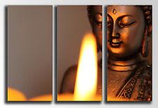 Cuadro Moderno Fotografico Buda Vela base madera, 90 x 62 cm, Buda Buddha Retro