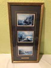 "Three Framed Thomas Kinkade Lighthouse Prints ""Seaside Memories"" Coa"