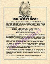 Rules In A Cane Corso's House
