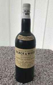 Antique 1950/60s rare BLACK & WHITE WHISKY BOTTLE cigarette dispenser holder