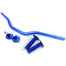 """Wingsmoto Bleu 28mm 1 1/8"""" Moto graisse guidon CNC montage Serrer Adaptateur"""