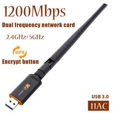Wireless WiFi Adapter RTL8812 Dualband 1200Mbps Netzwerkkarte mit Antenne