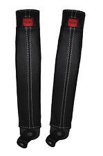 White stitch 2x ceinture peau couvre fits TOYOTA LAND CRUISER PRADO lj78 / LJ70