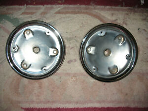 2 1956 Ford Thunderbird rear tail light housings modified re chromed  Box 2700