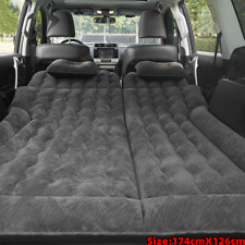 Car Air Bed Inflatable Mattress Back Seat Pads w/ Pillow Pump Travel Camping.