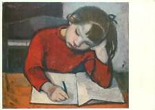 Painting author Postcard Tippel child writing