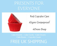 25 x Red Cupcake / Muffin Cases