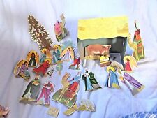 Vtg  Nativity Scene Christmas Cardboard Stand up Punched Out  Unique!