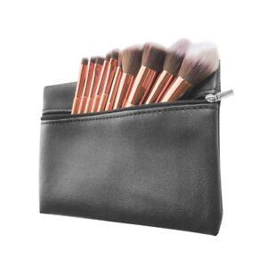 10 pcs Rose Gold Makeup Brush Set Eyeshadow Pro FREE MAKEUP BAG - Christmas Gift
