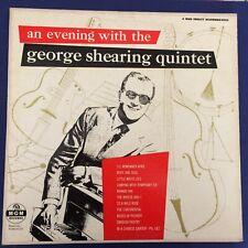 JAZZ LP- AN EVENING WITH -George Shearing -QUINTET- MGM 1954 Original 12'' RARE