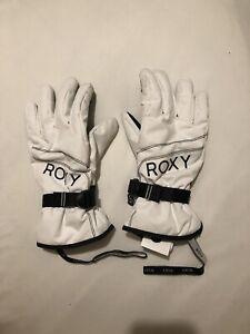 Roxy White Ski Snowboard Gloves - Used Once