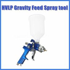 HVLP Gravity Feed Paint Air Spray Gun Tool with 1.4/1.7/2.0MM Nozzles Kit Set