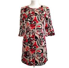B Darlin Sheath Dress Juniors 3 Red Black Tan Ruffle Sleeve Cuff