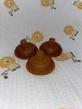Vintage Playtex Gerber Flat Top Latex Baby Bottle Nipples Drop Ins Nurser