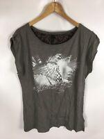 STILE BENETTON T-Shirt, grau, Größe L, 100% Baumwolle