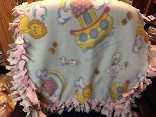 Precious Moments Noah's Ark Tied Double Fleece Baby Crib Blanket 30x56