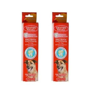 Enzymatic Toothpaste for Dogs Poultry Flavor 2 Pack for Dental Care Total 5 oz