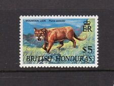 BRITISH HONDURAS 1968 $5 PUMA TOP VALUE DEFINITIVE NEVER HINGED MINT
