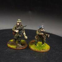 Pro Painted 28mm Bolt Action German fallschirmjager (Plastic) officer & NCO Ww2
