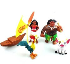 Moana 5PC Maui Hei hei Pua Moana Movie Action Figure Toy Cake Toppers US SELLER