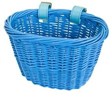 FRONT BICYCLE BIKE BASKET MINI WILLOW WICKER BASKET BLUE BE90141