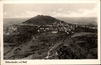 Hohenstaufen alte Ansichtskarte 1952 gelaufen Gesamtansicht Berg mit Dorf Wald