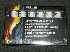 Golden 6 Professional Acrylic Paints 2-ounce tubes
