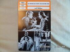 CARTE FICHE CINEMA 1951 LES MIRACLES N'ONT LIEU QU'UNE FOIS Jean Marais