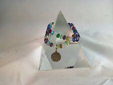 Quantum EMF Jewelry - 2 Clear Swarovski Crystal Double Duty Bracelets - 7 inc...