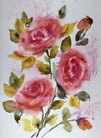 ROSES New A4 Limited Edition Print of Watercolour by DIANE ANTONE